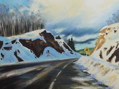 Dangerous Curve Holly Friesen (2013) @hollyriver oil on canvas 24in × 30in × 1in Current Bid: $750.00
