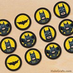 Free printable Lego Batman cupcake toppers - Batman Printables - Ideas of Batman Printables - Free printable Lego Batman cupcake toppers Lego Batman Party, Lego Batman Birthday, Lego Birthday Party, Superhero Party, Boy Birthday Parties, Batman Batman, 5th Birthday, Batman Free, Lego Parties