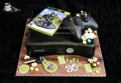Xbox 360 cake - by Sweet Treasures (Ann) @ CakesDecor.com - cake decorating website
