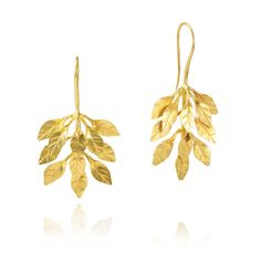Pippa Small Gold Leaf Earrings