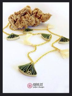 Paper Beads Necklace - by: Quilly Paper Design - Ann Martin Feature in All Things Paper