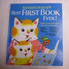 Richard Scarry's Best First Book Ever!, Random House, Very Good book with light wear. Scratches on the back cover. Richard Scarry, Random House, Manners, Fun To Be One, Fun Learning, Good Books, Pikachu, Ebay, Fictional Characters