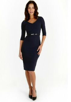 The Pretty Dress Company - Burbank retro dress in navy | Notorious