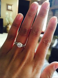 Split shank engagement ring with round center stone - split band solitaire engagement ring
