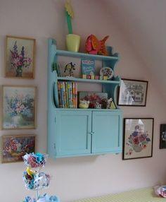little shelf in blue
