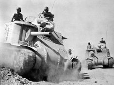 1st Armored Divisions M3 Tanks in Tunisia in November 1942.