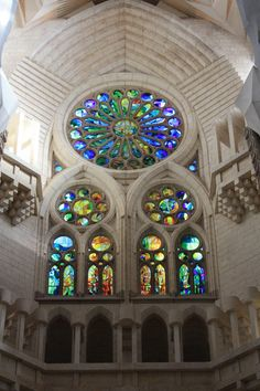 Sagrada Familia in Barcelona Spain. Catholic church designed by Antoni Gaudi. Google it for a great read!