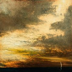 Stairway to Heaven 2 - Print - Medium. Stairway to Heaven 2 by Maurice Sapiro captures the beauty of rain clouds against an illuminated sky. This piece features a palette of neutral tones.