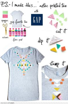aztec tee that is really cool diy to do!!!!!!!!