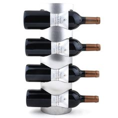 Stainless Steel Wall Mounted Wine Rack Iron Decorative Wall mounted Wine Racks-4 Bottle wine Rack(33-4)