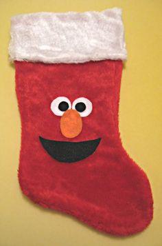 """Easy """"Elmo"""" Christmas stocking"""