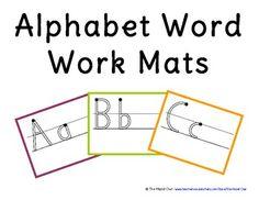 FREE Alphabet Word Work Mats!