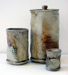 Ceramics by Ben Brierley at Studiopottery.co.uk - Lidded jar, beaker and shot (2004)
