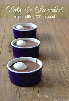 Pots de Chocolat with Greek Yogurt