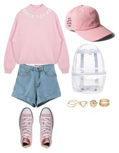 """""""#277"""" by taehugs ❤ liked on Polyvore featuring Converse and Topshop"""