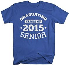 Shirts By Sarah Men's Graduating Class 2015 Senior Graduate T-Shirt