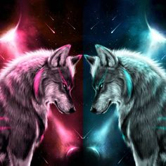 Pin by Tanya Myers on Wolfie and Raven in 2019 Wolf Photos, Wolf Pictures, Wolf Wallpaper, Animal Wallpaper, Cute Animal Drawings, Cute Drawings, Wolf Artwork, Wolf Painting, Fantasy Wolf