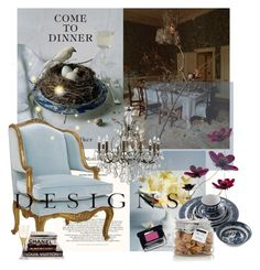 """***COME TO DINNER***"" by mariapia65 ❤ liked on Polyvore featuring interior, interiors, interior design, home, home decor, interior decorating, Wedgwood, FREDS at Barneys New York, Kim Seybert and Chanel"