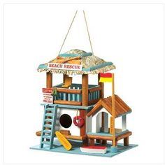 Lifeguard Station Birdhouse - traditional - birdhouses - Home 'n Gifts