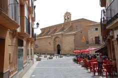 Plaza de España de Calanda desde la calle San Miguel