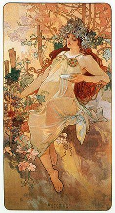 Alphonse Mucha ~ AUTOMNE (1896)