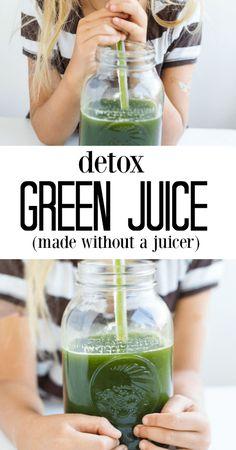 Detox Green Juice (made without a juicer) - www.savorylotus.com