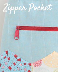 Clover & Violet — Bag Zipper Pocket Tutorial