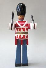 Vintage Danish Modern Kay Bojesen Wood Toy Soldier Denmark Royal Guard Drummer