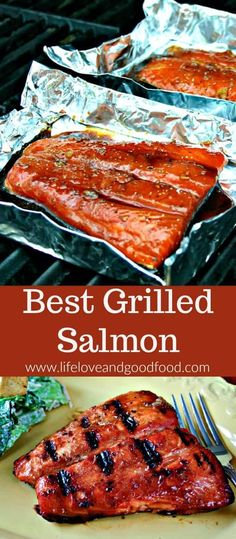 This Best Grilled Salmon has a slightly sweet and smoky flavor and is grilled to perfection in just 20 minutes. #salmon #grilledsalmon