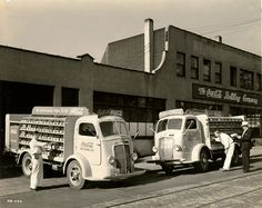 OLDE COCA COLA MARKETING SIGNS - CAMPAIGNS & VEHICLES - BOTTLE DELIVERY TRUCKS