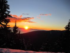 Sunset, North Vancouver, Grouse mountain, February 2014