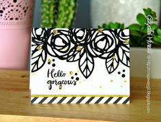 Bold Blooms die set and stamp set from Essential by Ellen, Cards by G3