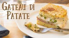 Gateau (Gattò) di Patate con Prosciutto e Piselli | Ricetta Piatto Unico...