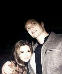 Daniel Sharman (Kaleb/Kol) and Danielle Campbell (Davina)