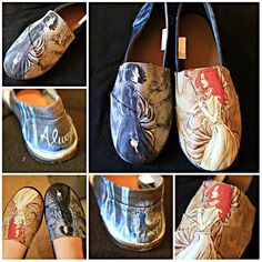 Snape and lily shoes based on art by ellaine on deviantart