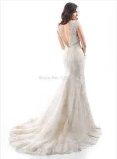 Lace White Ivory Wedding Dress Bridal Gown Custom Size 2 4 6 8 10 12 14 16 18 20+ $179.00