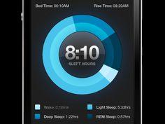 Alarm Clock Dial, Mobile UI Design