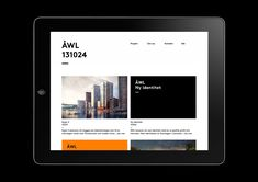 Visual identity and signage for ÅWL Arkitekter designed by Henrik Nygren—Design.