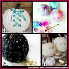 Dollar Store Crafter: 4 Ways To Decorate Your Halloween Pumpkins