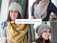The Malia CAL-is officially over but the patterns will remain on my blog free for use! I've left the original CAL information below. Malia Beanie|Malia