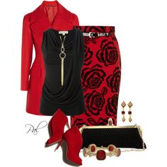 """Lady in Red"" by pamlcs on Polyvore"