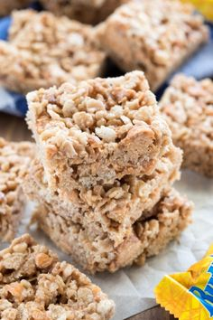 EASY Butterfinger Krispie Treats - one of our favorite recipes!