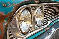 Close up of rusted headlights - Photo by Brandon Doran