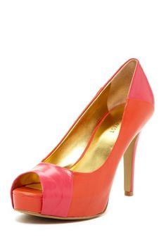 Nine West Cadee Peep Toe Heel by Shoe Bazaar on @HauteLook