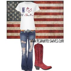 """""""U.S.A."""" by realhunterswives on Polyvore"""