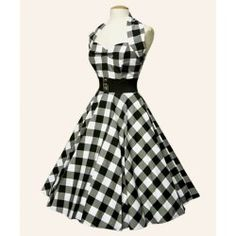 Gingham 1950s Halterneck Swing Dress. neeeeeddd