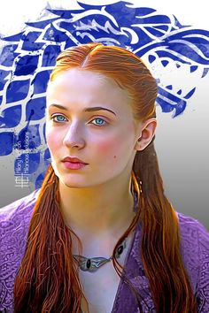 Sansa Stark ~ House Stark Sigil | Game of Thrones - by Hilary Heffron, Hilarious Delusions
