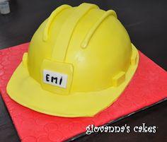 Construction helmet cake
