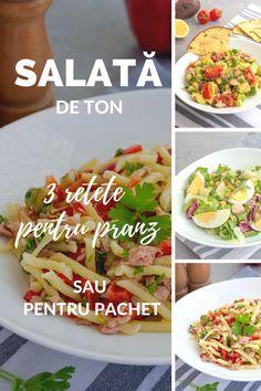 3 rețete de salată de ton ușoare și pline de prospețime. Sunt gata imediat, delicioase și sățioase. Ideale pentru prânz, cină sau de luat la pachet. Nimic nu poate bate o salată de ton, nici când vinde vorba de gust, nici când vine vorba de ușurința preparării. Nu trebuie decât să ai o conservă de ton în cămară și apoi să improvizezi în funcție de ingredientele pe care le ai deja în frigider sau prin dulapuri. Avocado, Tacos, Mexican, Fish, Ethnic Recipes, Pork, Lawyer, Pisces, Mexicans