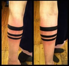 Black Bands Tattoo On Arm